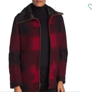 NEW • Pendleton • Wool Blend Quilted Collar Coat